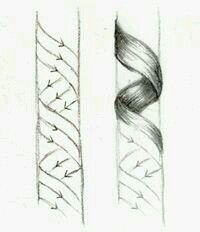Hair curls ribbon
