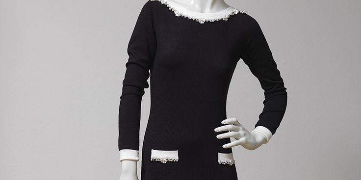 """""""Chanel""""-Dress black and white"""