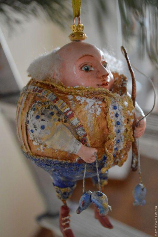 Ёлочная игрушка из папье-маше