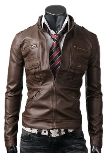 Zip Pocket Light Brown Leather Jacket now on limited time #ChristmasSale with #GuaranteedDeliveryBeforeChristmas SHOP THE LOOK NOW!!