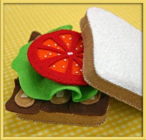 Felt Tomato Slice - Waldorf Inspired Felt Playfood Accessory