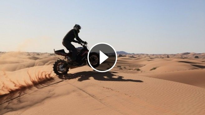 Sportbike Desert Ride! - This is one badass video from ICON Motorsports, where this rider by the name of Julien Welsch takes a sport bike out for a ride in the deser