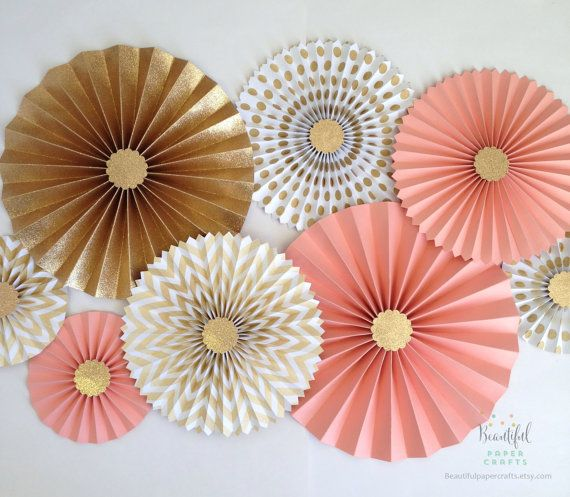 Hey, I found this really awesome Etsy listing at https://www.etsy.com/listing/230299798/coral-and-gold-glitter-gold-rosette