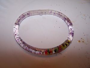 Water glitter bracelet were cool until they broke
