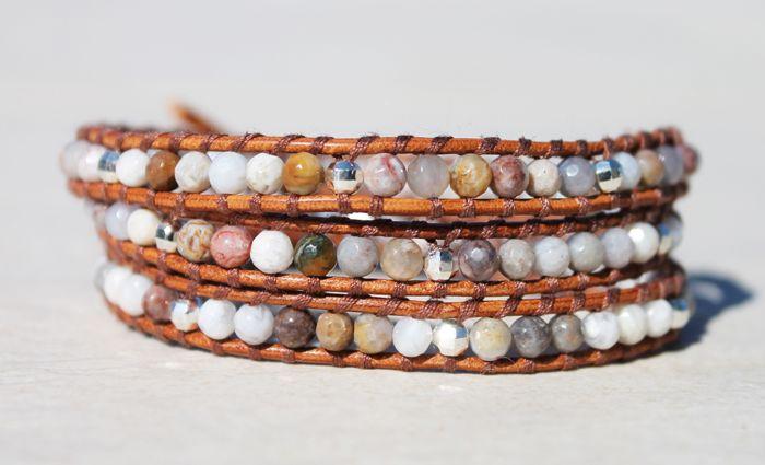 Da Costa African Opal Triple Wrap Bracelet