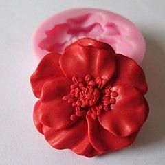 flor fermento bolo fondant de chocolate do molde de doces, l4.8cm * w4.8cm * h1.2cm
