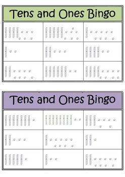 This place value set consists of 6 Bingo boards with base 10 material showing 2-digit numbers. There are 3 sets of calling cards to differentia...