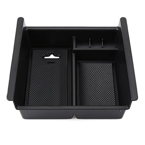 Armrest Storage Organizer Center Console Tray Divider For Toyota 4Runner 2010-2017  Fits for Toyota 4Runner 2010-2017  High quality black ABS plastic  No slip tray liners prevent items from sliding in tray  Tray match fits the inside shape of the center console exactly to make a tight fit and not rattle