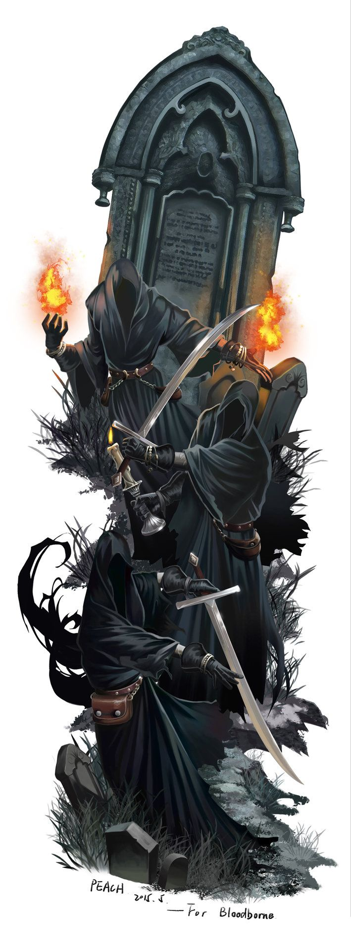The Kerboros of Malchoir are a conjoined being of great power. They hide their faces beneath great blackhoods.