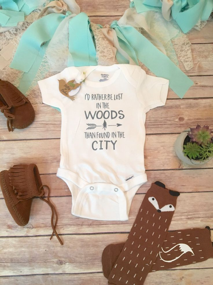 I'd Rather Be Lost in The Woods Onesie®, Baby Boy Clothes, Baby Shower Gift, Country Baby Clothes,  Huntinh Onesie, Cute Onesies, Camping by BittyandBoho on Etsy https://www.etsy.com/listing/278580272/id-rather-be-lost-in-the-woods-onesie