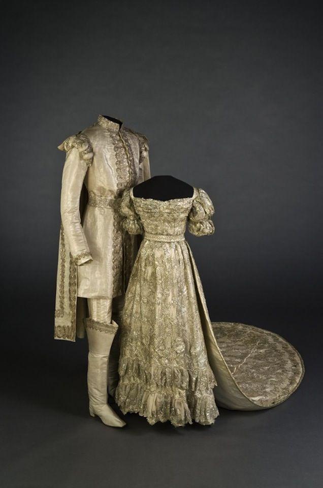 1823 Josefina of Sweden's wedding dress Royal Armoury Collection, Sweden