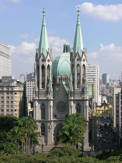Sé Cathedral - São Paulo, #Brazil Palco de muitos momentos da história do país...