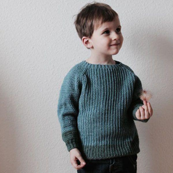 Linus, en hæklet trøje til børn