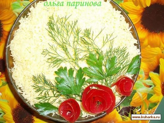 Оформление салатов фото