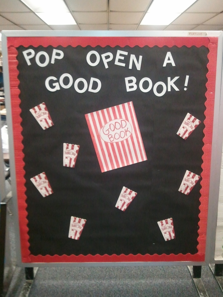 """Popcorn bulletin board.  """"Kindness is popping up everywhere"""".  Include photos with descriptions"""