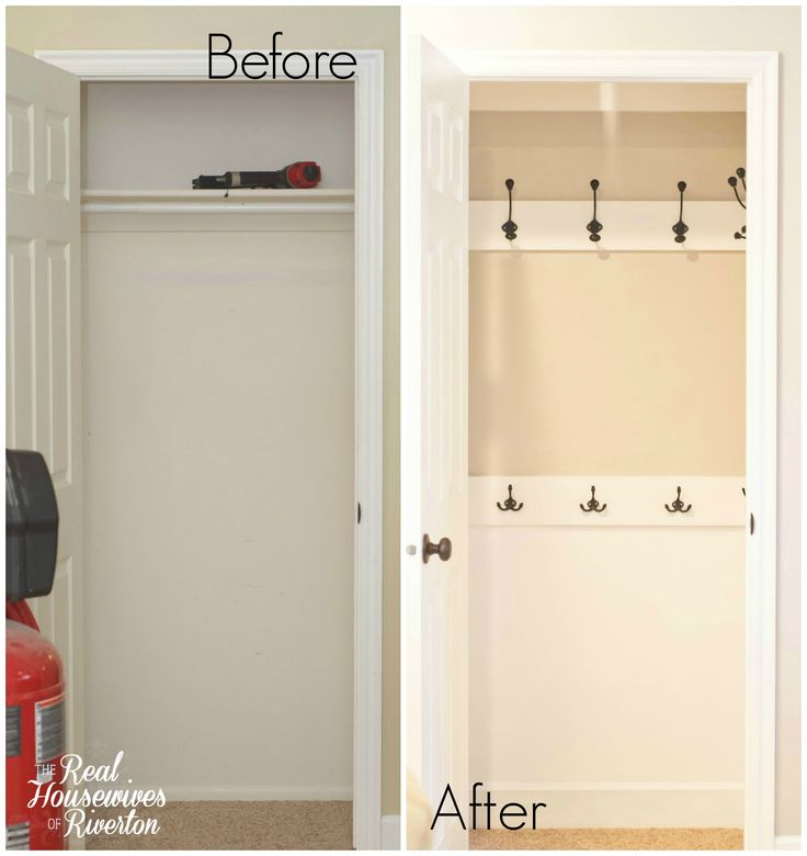 Our Coat Closet Makeover is complete. I love the result and it is so much cleaner and nicer than it was in the beginning. Step by step tutorial included.
