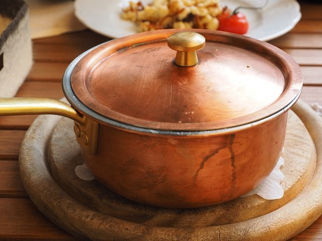 #Copper Pot- Copper is a valuable #metal. It is naturally a reddish brown color, is easily melted, and conducts heat well. This is the reason that a lot of cookware contains copper. Copper has historical significance as well because it is one of the first metals used by humans.