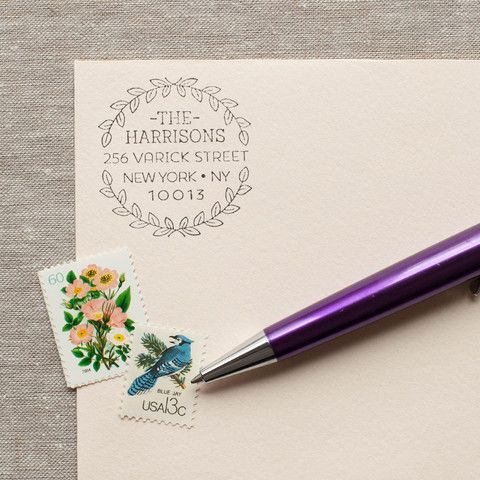 Leaf Wreath - Self-inking Stamp – The Chatty Press