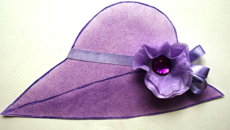 One of 24 hats made by aged care residents for their Melbourne cup poster