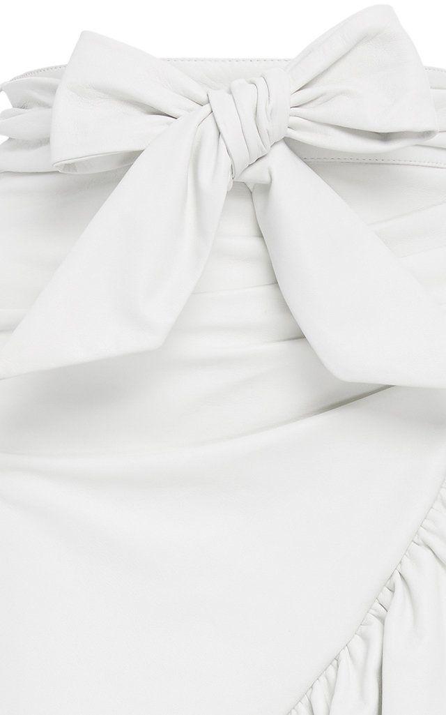 64b383e4f8 Rodarte Ruffle Leather Skirt in 2019 | Products