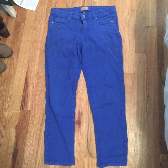 Cobalt blue skinny crop Paige jeans These have had lots of love but such a cute color especially for spring Paige Jeans Jeans Skinny