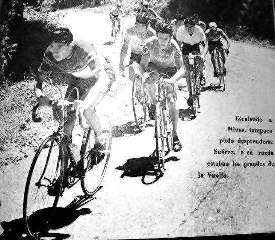 Vuelta a Colombia. Javier el ñato Suarez domina la escalada al Alto de Minas, un puerto donde siempre se destacó.
