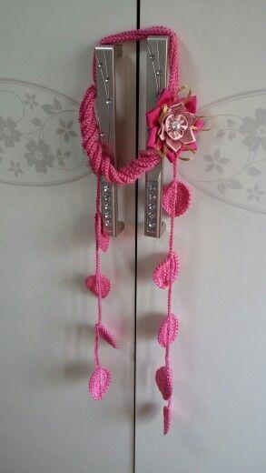 Knitted collar with Kansazhi flower★$20 dollars