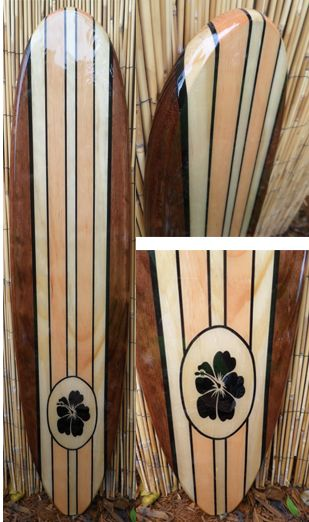 TIKI SOUL DECORATIVE SURFBOARD SURF ART - Natural Beauty Surfboard decor, beach decor, surfer, decorative surfboard wall art