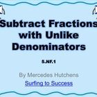 Subtract Fractions with Unlike Denominators  I used this PowerPoint in my classroom over two days in a very similar manner as my Add Fractions with...