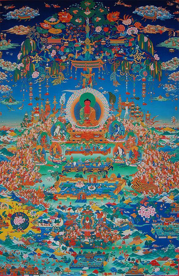 Glorious Sukhavati Realm Of Buddha Amitabha Painting