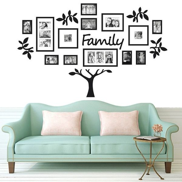 3d Chic Family Tree Photo Frame Wall Stickers Acrylic Wall Frame Wall Tree Wall Decal Sticker Mural Art Home Decor