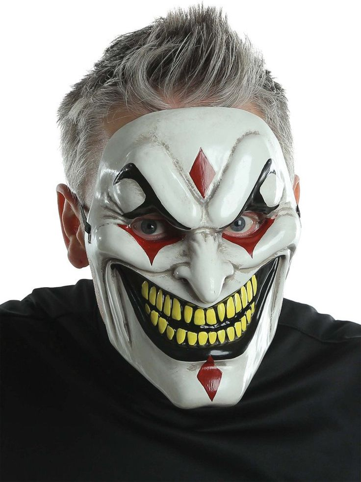 Costume Mask: Evil Jester Injection Mask