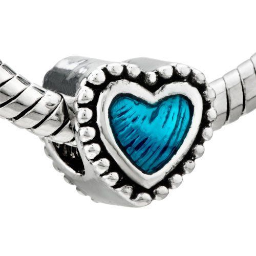 Pugster Blue Heart Beads Fit Pandora Chamilia Biagi Charm Bracelet Pugster. $12.49. Pugster are adding new designs all the time. Hole size is approximately 4.8 to 5mm. Fit Pandora, Biagi, and Chamilia Charm Bead Bracelets. Unthreaded European story bracelet design. Measures 9mm X 14mm