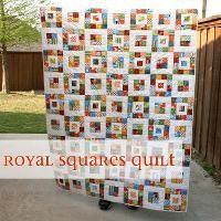 Royal Squares Quilt - via @Craftsy