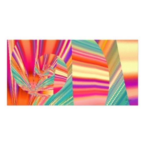 Fractured Glass Digital Art Photo Card