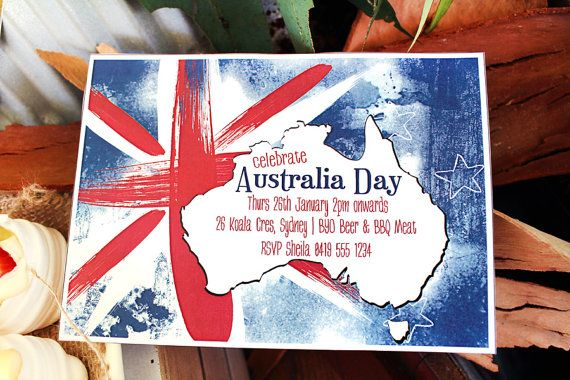 Australia Day Invitation  INSTANT DOWNLOAD  Editable & by Sassaby