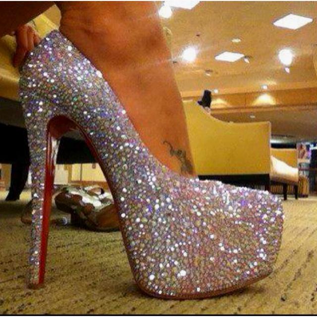 Red Bottom Christian Louboutin Daffodil Swarovski Crystal Shoes ...