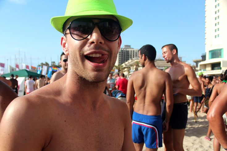 Photos and video from 2013 Tel Aviv Gay Pride - where 100,000 people and tourists celebrated gay pride on the beach