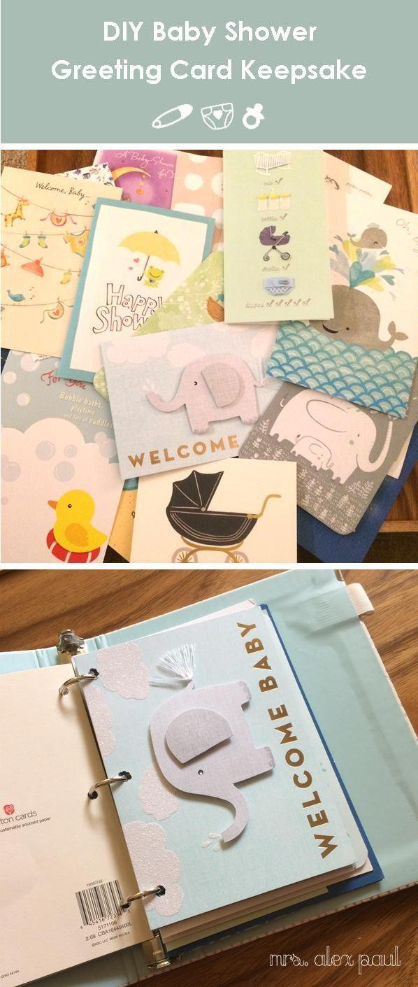 Greeting Card Keepsake Diy For Baby Shower Cards Diy Organization Mrs Alex Paul Baby Shower Cards Baby Shower Cards Keepsake Baby Shower Scrapbook