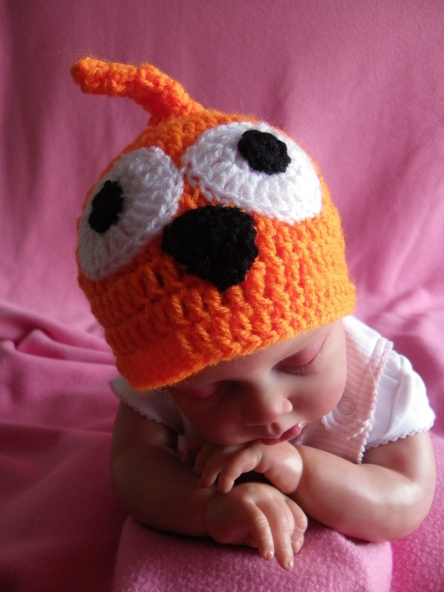 Hand crochet baby Zingy (EDF) hat to fit preemie £5.00