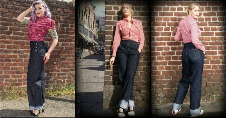 Kaum etwas geht über eine tolle Rockabilly Jeans - wie beispielsweise diese Marlene Jeans by Rumble 59  ▶▶▶ https://pinup-fashion.de/Pik2YB