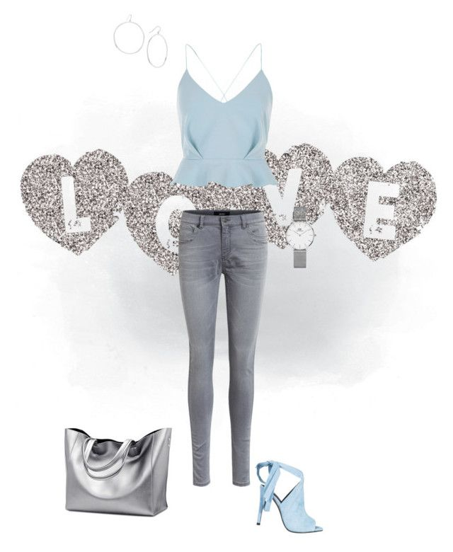 """""""Cold summer colours"""" by colourmyday on Polyvore featuring mode, River Island, Object Collectors Item, Kendall + Kylie, Daniel Wellington en Gorjana"""