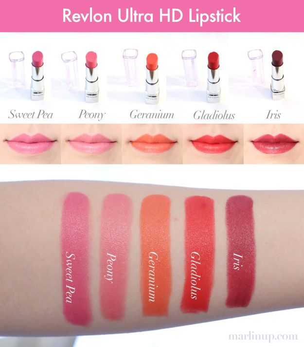 Revlon Ultra HD Lipstick Swatches