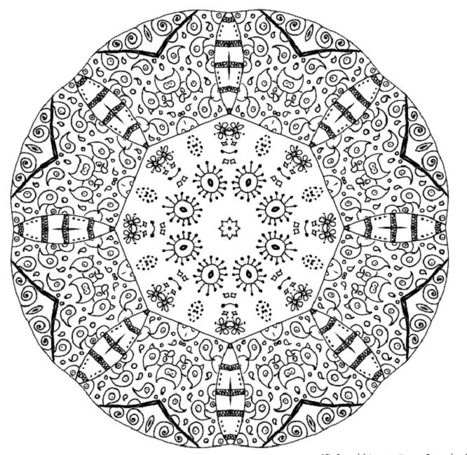 Best Mandala Coloring Pages