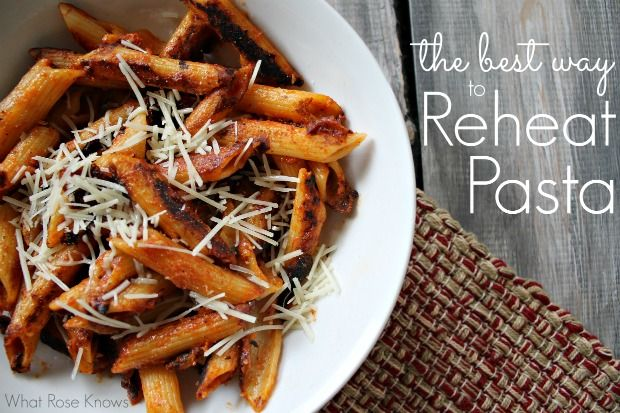 The best way EVER to reheat pasta!