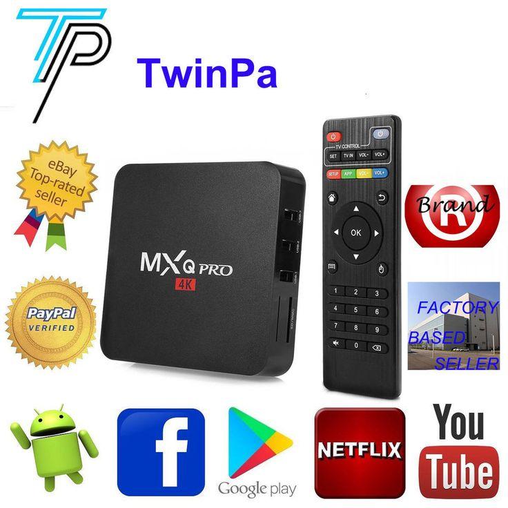 MXQ Pro Android TV Box Quad Core 1/8G 4K UHD OTT TV 2.4G WIFI H.265 Media Player #MXQ
