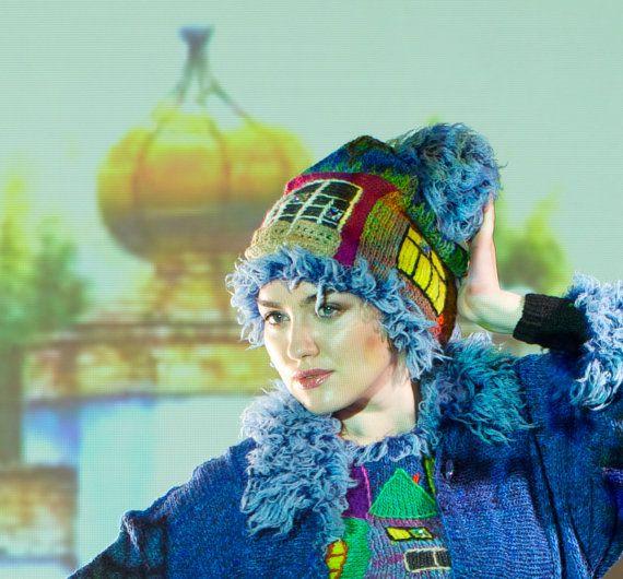 knitted cap handmade  HUNDERTWASSER  for girls от annalesnikova