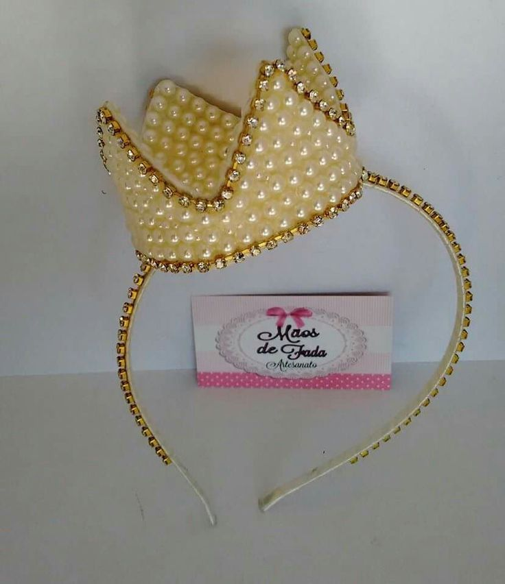 Coroa Mãos de fada artesanato