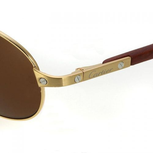 cartier gold sunglasses for men