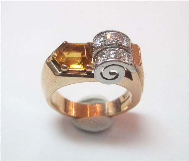 Retro citrine ring a fancy cut citrine that weighs 1 for Jewelry arts prairie village